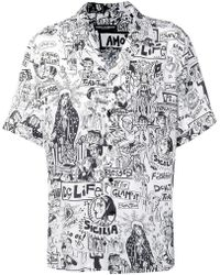 1fac485f Dolce & Gabbana - Printed Short-sleeved Shirt - Lyst