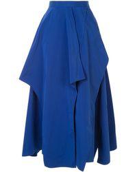 Enfold レイヤード スカート - ブルー