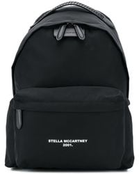 Stella McCartney Rugzak Met Logo - Zwart