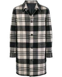 AMI - Manteau droit poches plaquées - Lyst