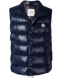 Moncler - Glossy Band Collar Gilet - Lyst