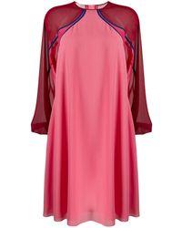 Giamba ロングスリーブ シフトドレス - ピンク