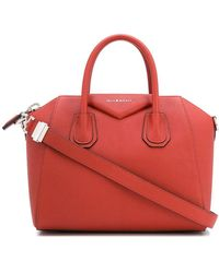 Givenchy Antigona Small Leather Shoulder Bag - Orange