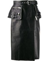 Alexander McQueen バイカー ミニスカート - ブラック