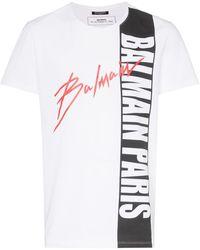 Balmain ロゴ Tシャツ - マルチカラー