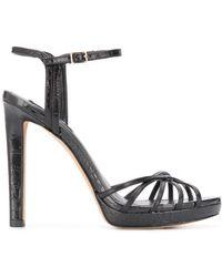 DKNY Lipa Platform Sandals - Black
