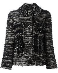 Simone Rocha ビーズ装飾 ツイードジャケット - ブラック