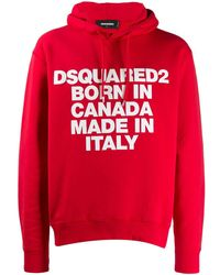 DSquared² Sudadera Born In Canada con capucha - Rojo