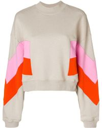 MSGM - Contrast Print Sweatshirt - Lyst