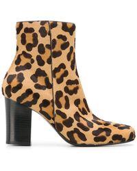 Antonio Barbato - Leopard Print Ankle Boots - Lyst