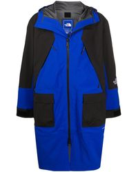 The North Face Colour-block Rain Coat - Blue