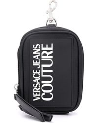 Versace Jeans ロゴ ポーチ - ブラック