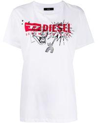 DIESEL T-daria プリント Tシャツ - ホワイト