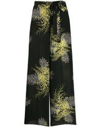Valentino - Mimosa Crêpe De Chine Trousers - Lyst