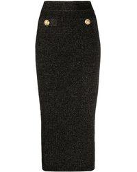 Balmain メタリック スカート - ブラック