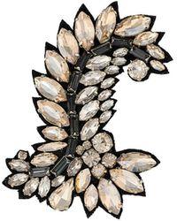 Ermanno Scervino Crystal embellished brooch - Negro