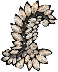 Ermanno Scervino Crystal Embellished Brooch - Black