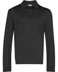 Lemaire Long-sleeve Polo-neck Sweater - Gray