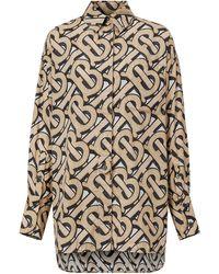 Burberry - Camisa oversize con estampado de monograma - Lyst