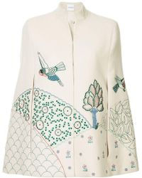 Vilshenko - Nature Embroidered Cape - Lyst