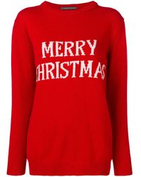 Alberta Ferretti Merry Christmas Knitted Sweater - Red