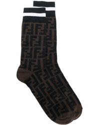 Fendi Носки С Логотипом - Коричневый