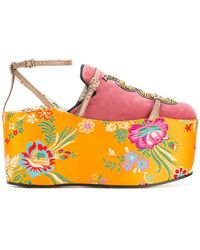 Gucci - Removable Platform Slippers - Lyst