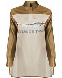 BARBARA BOLOGNA Deconstructed Silk Shirt - Metallic