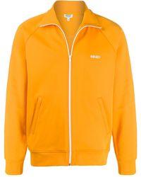 KENZO Спортивная Куртка На Молнии - Оранжевый