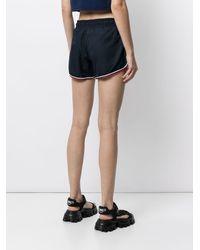 Perfect Moment Shorts sportivi con ricamo - Blu