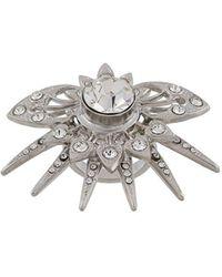 Paco Rabanne Crystal Statement Ring - Metallic