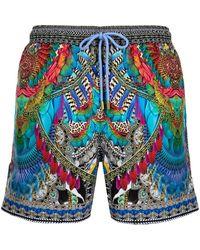 Camilla Guardian Of The Sun Swim Shorts - Blue