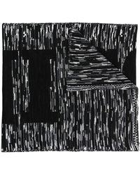 Missoni Écharpe en maille intarsia - Noir