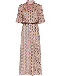 Evi Grintela Tangier printed maxi shirt dress - Multicolor
