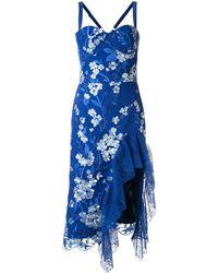 Bronx and Banco Vestido Tiffany con volantes - Azul