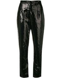 Elie Saab スパンコール パンツ - ブラック