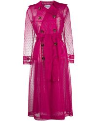 RED Valentino Sheer Trench Coat - Pink