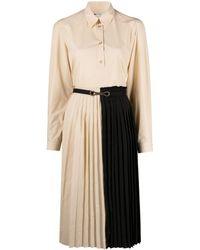 Ports 1961 バイカラー シャツドレス - ブラック