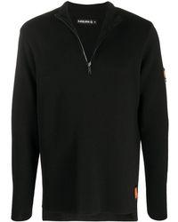 Raeburn ジップアップ セーター - ブラック