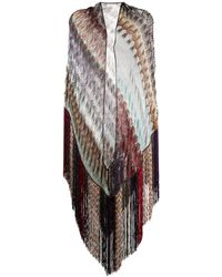 Missoni Schal mit Fransen - Mehrfarbig