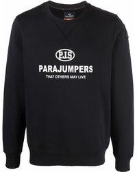 Parajumpers ロゴ スウェットシャツ - ブラック