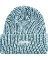 Supreme Loose Gauge Beanie Hat - Blue