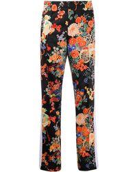 Palm Angels Floral Track Pants - Black