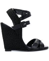 Philipp Plein High Wedge Sandals - Black
