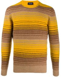 Drumohr Stripe Knit Jumper - Yellow