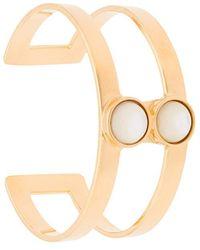 Lizzie Fortunato - Petite T-bar Cuff Bracelet - Lyst