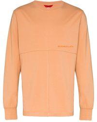 Eckhaus Latta ロングtシャツ - オレンジ