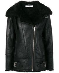 IRO - Shearling Biker Jacket - Lyst