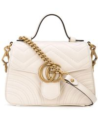 Gucci Мини-сумка GG Marmont - Белый