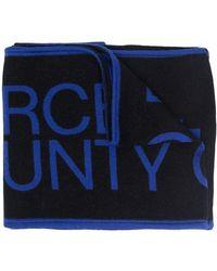Marcelo Burlon Logo-knit Scarf - Black